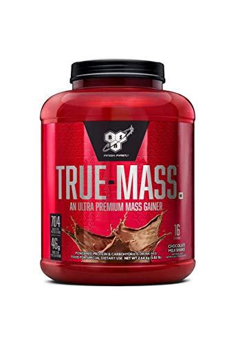 Image of the BSN TRUE-MASS Weight Gainer, Muscle Mass Gainer Protein Powder, Chocolate Milkshake, 5.82 Pound